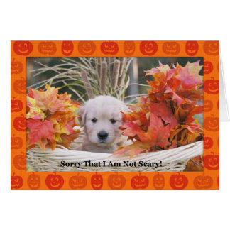 Happy Halloween Puppy Card