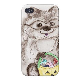 Happy Halloween Raccoon Covers For iPhone 4