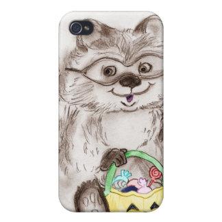Happy Halloween Raccoon iPhone 4 Cases