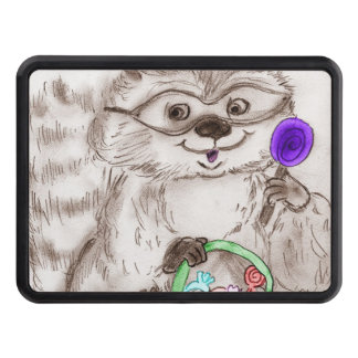 Happy Halloween Raccoon Trailer Hitch Cover