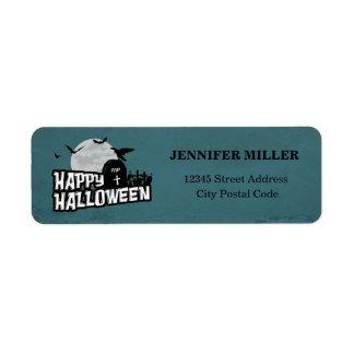 Happy Halloween Return Address Label