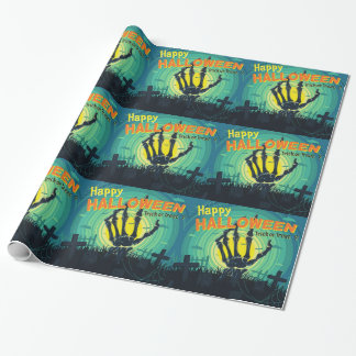 Happy Halloween Rise Of The Dead Wrapping Paper