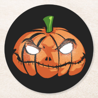 Happy Halloween Round Paper Coaster