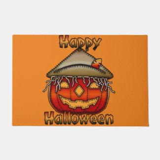 Happy Halloween Scarecrow Jack Doormat