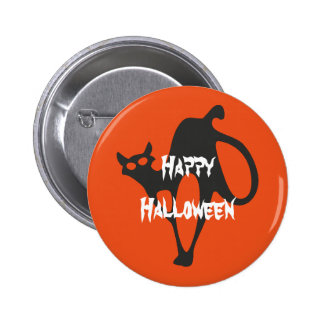 Happy Halloween Scary Cat 2 Inch Round Button