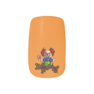 Happy Halloween Scary Clown Nail Stickers