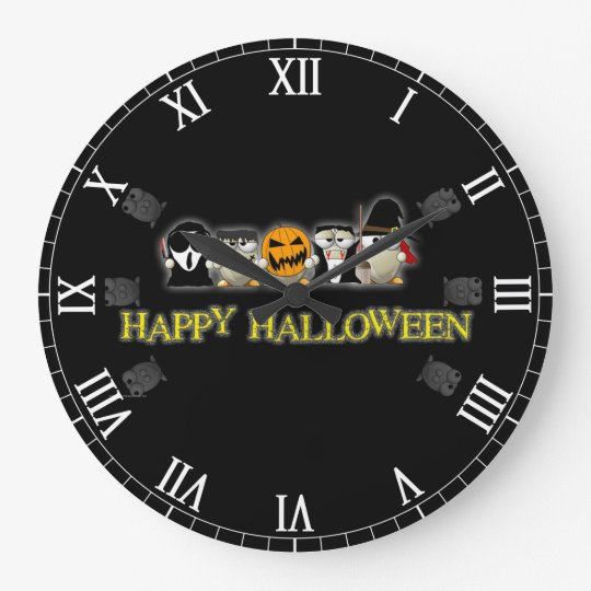 Happy Halloween Scary Friends Wall Clock