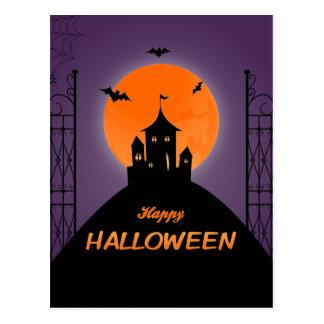 Happy Halloween Scary House Postcard