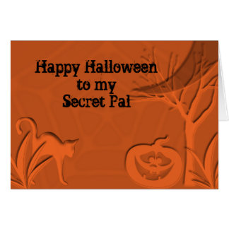 Happy Halloween Secret Pal Greeting Cards