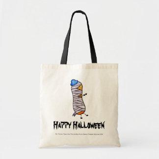 Happy Halloween Shy Peanut Mummy Tote Bag