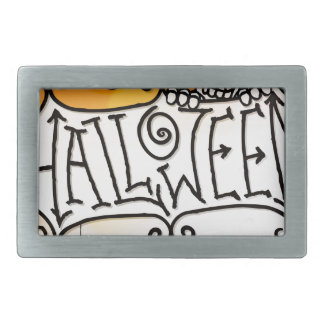 Happy Halloween Sign Background Belt Buckle