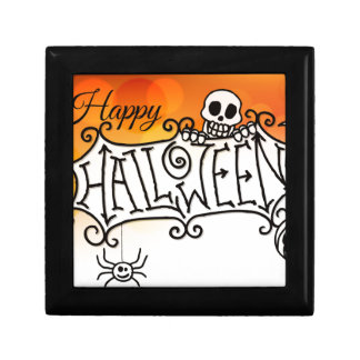 Happy Halloween Sign Background Gift Box