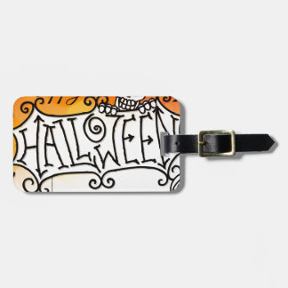 Happy Halloween Sign Background Luggage Tag