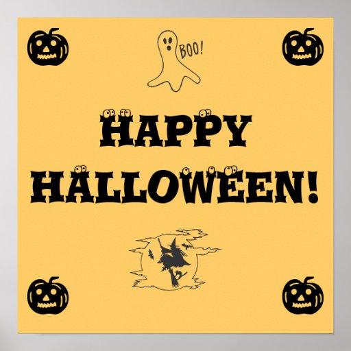 Happy Halloween sign - door decoration Poster | Zazzle
