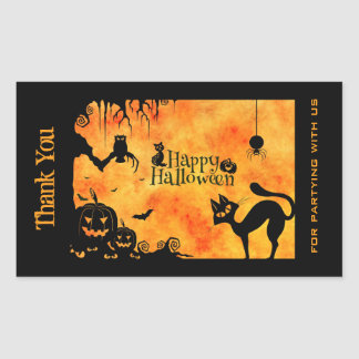 Custom Halloween Thank You Stickers | Zazzle.ca