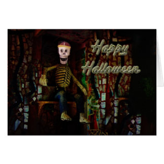 Happy Halloween Skeleton Greeting Card