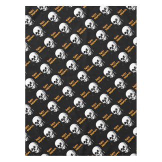 Happy Halloween Skull Optical Illusion Tablecloth