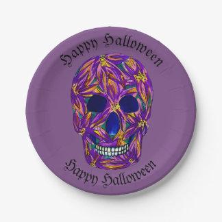 Happy Halloween Skull Paper Party Plates