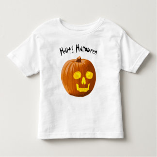 Happy Halloween Skull Pumpkin Toddler T-shirt