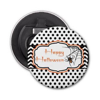 Happy Halloween Spider Button Bottle Opener