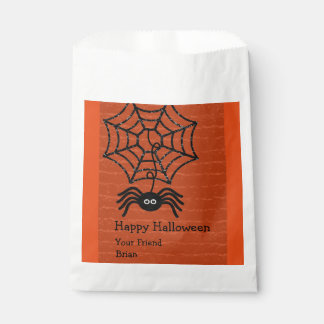 Happy Halloween Spider Personalized Favor Bags