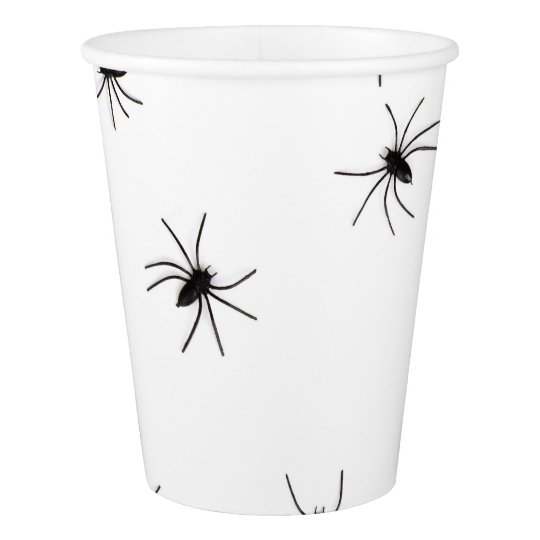 Happy Halloween Spiders Scary Paper Cup