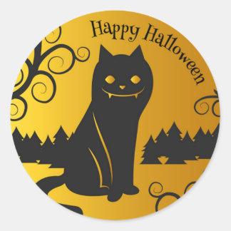 Happy Halloween Spooky Black Cat | Sticker Seal
