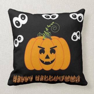 Happy Halloween Spooky Eyes Throw Pillow