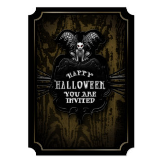Happy Halloween Spooky Gargoyle Invitation
