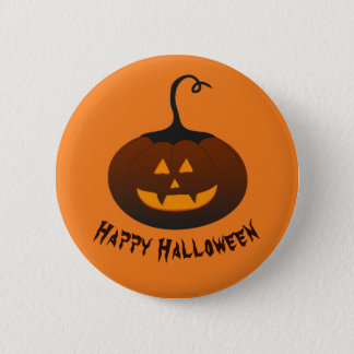 Happy Halloween Spooky Jack O Lantern Pumpkin 2 Inch Round Button