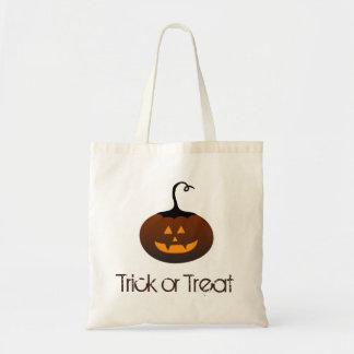Happy Halloween Spooky Jack O Lantern Pumpkin Tote Bag