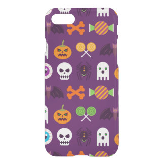 Happy Halloween Spooky Purple Cute Ghosts Pattern iPhone 8/7 Case