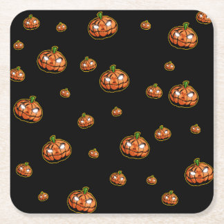 Happy Halloween Square Paper Coaster