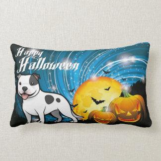Happy Halloween Staffordshire Bull Terrier Lumbar Pillow
