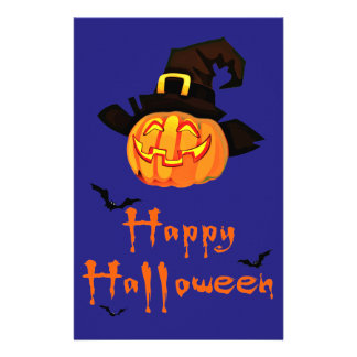 happy halloween stationery