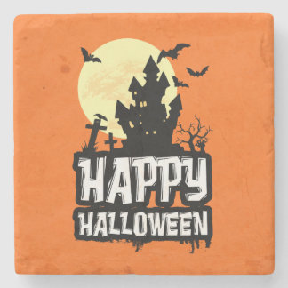 Happy Halloween Stone Coaster