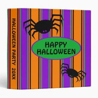 Happy Halloween Stripes Personalized Binders
