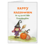 Happy Halloween to my Granddaughter Greeting Card