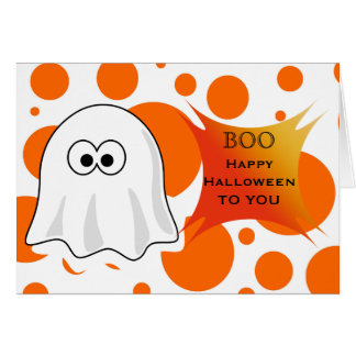 Happy Halloween to you with Halloween Boo Ghost Card