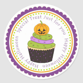 Happy Halloween Treat Gift Tag Label Sticker