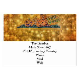 happy halloween tree business card template