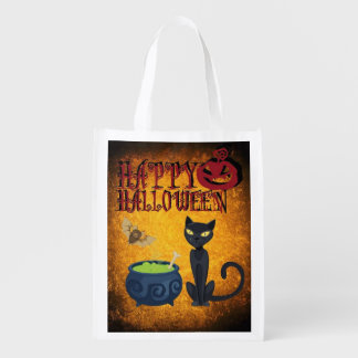 Happy Halloween Trick or Treat Candy Bag Market Tote