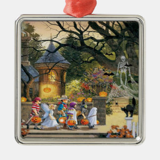 Happy Halloween Trick or Treat Children Metal Ornament