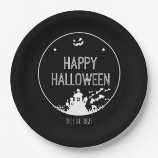 Happy Halloween Trick Or Treat Paper Plate