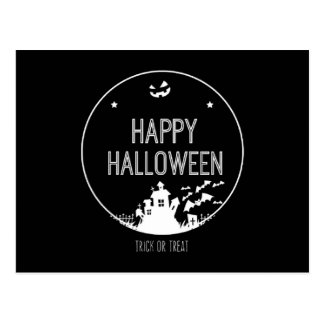 Happy Halloween Trick Or Treat Postcard