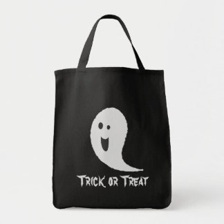 Happy Halloween Trick or Treat Spooky Scary Ghost Tote Bag