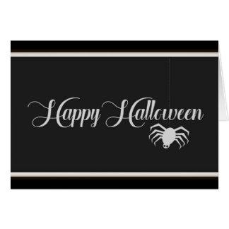 Happy Halloween Typography Card