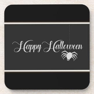 Happy Halloween Typography Coaster