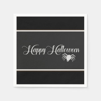 Happy Halloween Typography Paper Napkin
