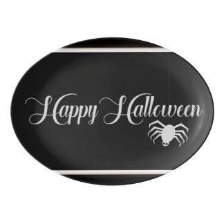 Happy Halloween Typography Porcelain Serving Platter